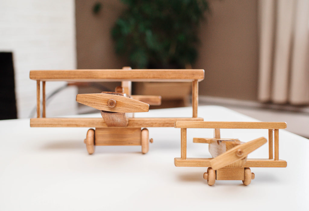 Small and Large Wooden Airplanes