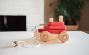Wooden Pull Toy Boat